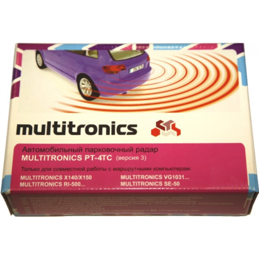Парктроник Multitronics PT-4TC (черный)